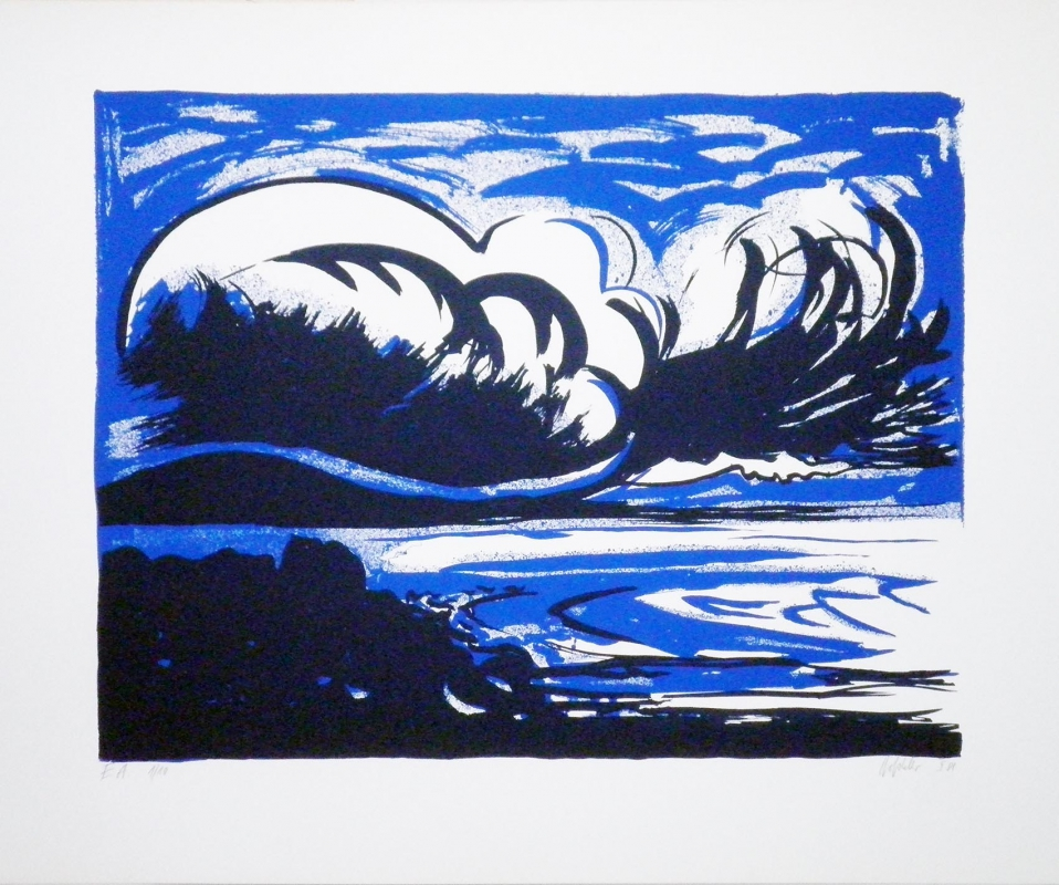 "Hannes Hofstetter, ""Bay"",1981,  screen print"