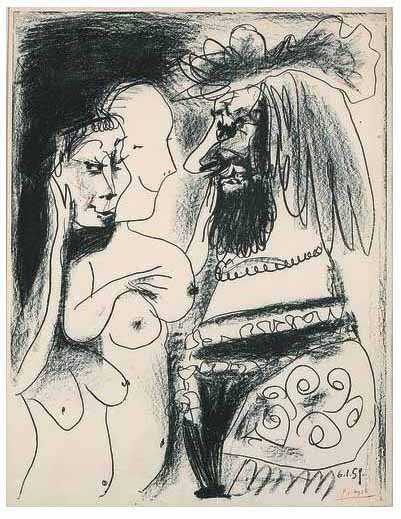 "Pablo Picasso Le Vieux Roi "" (The Old King) is an original Lithograph"